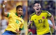 Neymar vs. James: el duelo entre las estrellas de Brasil y Colombia
