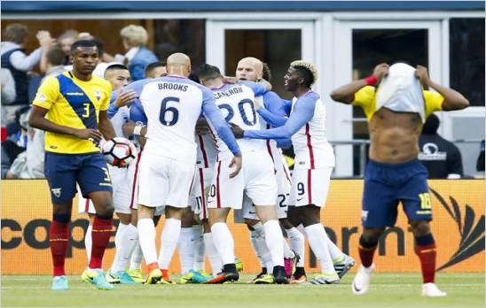 Estados Unidos supero 2-1 a Ecuador y es el primer semifinalista de la Copa Am�rica